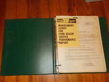 1970 FORD DEALERSHIP SERVICE PERFORMANCE REPORT DEALERSHIP SALES MANAGERS ALBUM