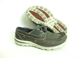 Skechers Men's Tevin Leather Boat Shoes Relaxed Fit Foam 63822 Size US 8 [A40]