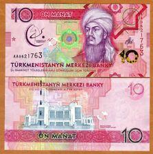 Turkmenistan, 10 Manat, 2017 P-New, UNC > Commemorative