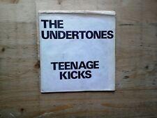 "The Undertones Teenage Kicks A1/B1 Hand Folded White Sleeve 7"" Vinyl Record GOT4"