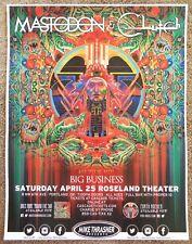 MASTODON & CLUTCH 2015 Gig POSTER Portland Oregon Concert