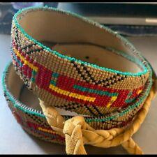 Native American hand beaded belt