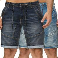 Herren Sweat Jeans Shorts Stretch JoggDenim Bermuda Urban Surface JeansJogger