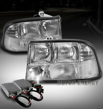 98-04 GMC SONOMA/98-01 JIMMY REPLACEMENT HEADLIGHTS LAMP CHROME W/50W 6K HID KIT