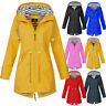 Women Long Sleeve Hooded Wind Jacket Ladies Outdoor Waterproof Rain Coat Outwear