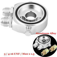M20 x 1.5 Aluminum Oil Filter Sandwich Plate Adapter 1/8 NPT 10AN Oil Cooler Kit