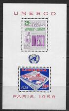 LIBERIA , UN , 1959 , UNESCO PARIS , SOUVENIR SHEET , PERF , MNH