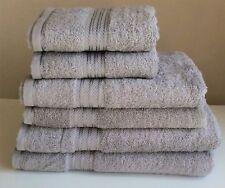 Luxury Striped Hotel Quality Egyptian Cotton Soft Silver Bath Sheet Towel 600gsm