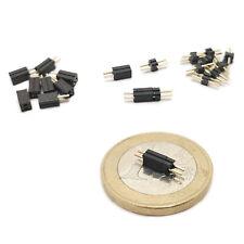 Micro Connecteurs 1,27mm pour Eclairage Wagons Loco HO - Z - N   5 / 10 paires