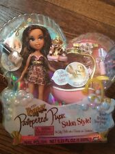 New In Box Bratz Pampered Pupz Salon Style Yasmin Doll & Accessories