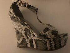 Snakeskin High Wedges  Size 40 Miss Shoes
