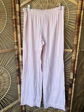 VICTORIA'S SECRET Pink White Classic Stripe Cotton PAJAMA Pants Sz S