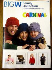 ~CARNIVAL FAMILY KNITTING BOOK No. 634 - 25 STYLES - SIZES 0 to XXXL - VGC~