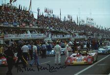 Arturo Merzario Firmato a Mano 12x8 FOTO FERRARI LE MANS 11.