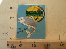 STICKER,DECAL TRIPLE FISH SPECIAL TOP FISHING LINE VISSEN BAARS ? LARGE STICKER