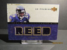 2007 Upper Deck Premier Remnants Quad Gold #PR4ER Ed Reed SN 42/75