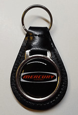 Reproduction Vintage Mercury Logo Medallion Leather Keychain