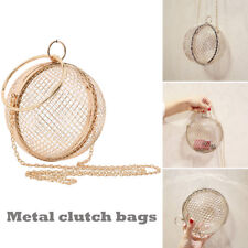 Evening Bag Party Women Clutch Metal Cage Bag Wedding Shaped Chain Handbags