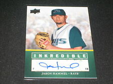 JASON HAMMEL RAYS STAR CERTIFIED AUTHENTIC SIGNED AUTOGRAPHED BASEBALL CARD