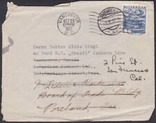 Austria - 1937 - 60 Groschen Blue # 368 On Twice Forwarded Cover to Canada & US