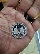 Pure Silver laxmi ganesha ganesh coin 10 grams silver  , 1.3 inches USA seller