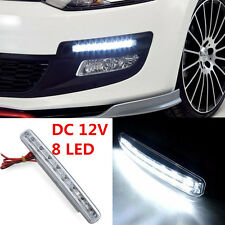 1Pcs White 8LED Daytime Running Light Daylight /Lamp DRL Kit Parking Fog Car 12V