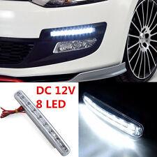 1Pcs White 8LED Daytime Running Light Daylight /Lamp DRL Kit Parking Fog Car 12V