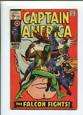 CAPTAIN AMERICA #118 (6.0) FALCON FIGHTS!! 1969