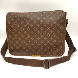 Authentic LOUIS VUITTON Monogram Canvas Abbesses Messenger Bag Unisex