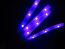PURPLE 5050 SMD LED 4 STRIPS 3 LED EACH FITS YAMAHA MOTORCYCLES TOTAL 12 LEDS