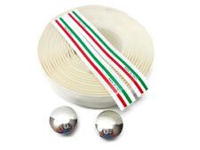 ITALY Shock Handlebar Bar Tape Set White NOS (753)