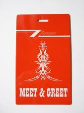 Zz Top Red Meet & Greet Tour Issued Used Backstage Pass Laminate 2018