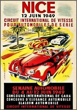 International Car Racing 1949 Nice France Concours Vintage Poster Print Retro Ad