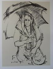 Paul COLLOMB - Vieille Femme portugaise   - gravure signée #322ex + justificatif