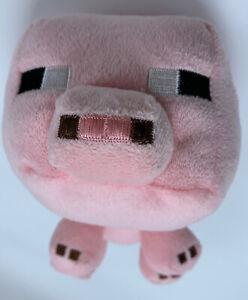 "Mojang Minecraft Pig Plush 2014 6"""