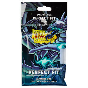 Dragon Shield Japanese Small Inner Card Sleeves | Perfect Fit | Clear | Yugioh