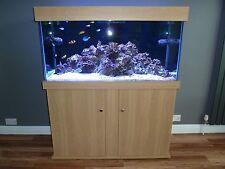 "Marine Aquarium Reef Fish Tank 48""x24""x18"" Cabinet Sump Tank Any Size Available"
