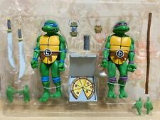 NECA Teenage Mutant Ninja Turtles Leonardo and Donatello 2-Pack Authentic No Box