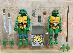 NECA Teenage Mutant Ninja Turtles Leonardo and Donatello 2-Pack Authentic No Box