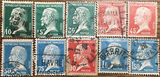 8 Sellos Francia Pasteur 1923-1924 usados Yvert 153 a 158, 193, 194, 195 y 197