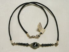 "HEMATITE GEMSTONE CHOKER NECKLACE 43CM SILVER PLATED ""NEW"" AUZ MADE CH2"