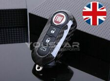 UK SELLER CARBON Replacement Remote Key Cover for Abarth Fiat 500 595 Punto