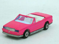 Cadillac Allante Cabrio in leuchtrosa, Majorette, o. OVP, 1:59, guter Zustand