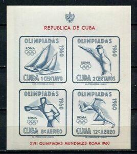29744) .CU BA. 1960 MNH** Nuovi** Olympic Games Rome s/s