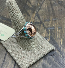 Barse Globalized Ring- Mixed Metal & Turquoise-9.5- NWT