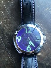 Rare !!!  Android Men's Skeleton Purple and Lime Green Skeleton  Automatic Watch