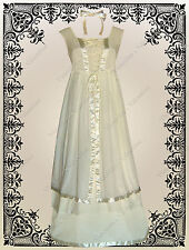 Victorian Civil War Steampunk Gothic Wedding Faerie History Corset Dress S