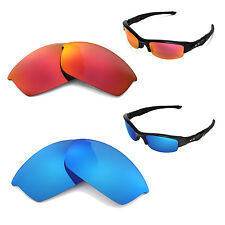 New Walleva Polarized Fire Red + Ice Blue Lenses For Oakley Flak Jacket