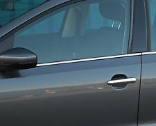 Per adattarsi VW VOLKSWAGEN POLO 2009 + 6R: CHROME SIDE DOOR Window Sill Trim copre Set