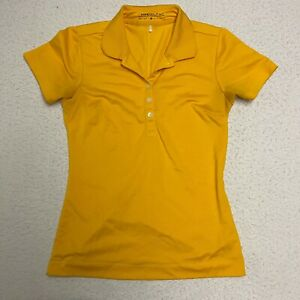 Nike Golf Dri Fit Polo Women's Extra Small XS Yellow Collared Activewear Top